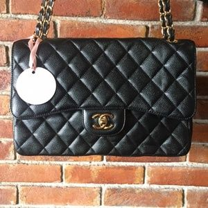 Chanel Classic Jumbo Caviar